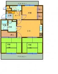 ロイヤルマンションコモン笹丘 間取り図