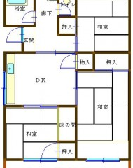笹の台団地 2号棟(成約済) 間取り図