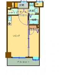 アクアシティ日赤通 302号 間取り図