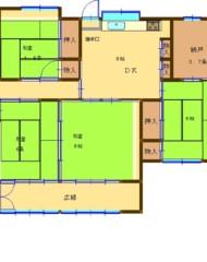 古賀市中央二丁目(戸建) 間取り図