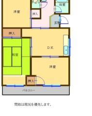 笹の台団地 2号棟 102号(成約済み) 間取り図