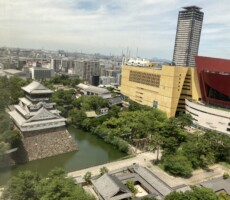 小倉城を上から見てみた。